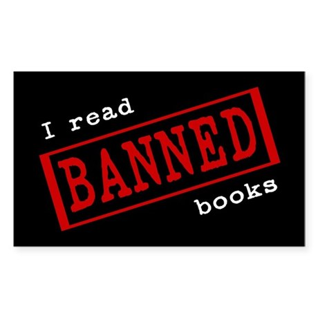 Banned Books Rectangle Sticker