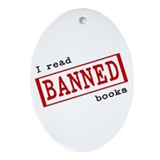 Banned Books Oval Ornament