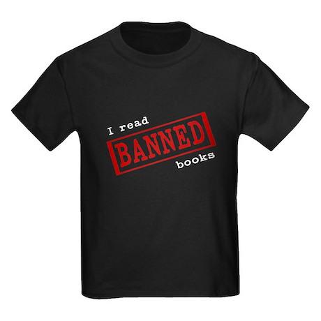 Banned Books Kids Dark T-Shirt