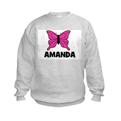 Butterfly - Amanda Kids Sweatshirt