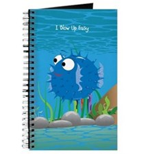 Blue I Blow Up Easy Journal