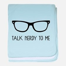 Talk Nerdy To Me baby blanket