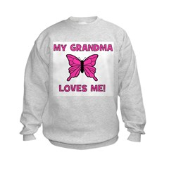 Butterfly - My Grandma Loves Sweatshirt
