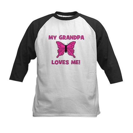 Butterfly - My Grandpa Loves Kids Baseball Jersey