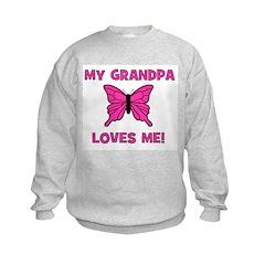 Butterfly - My Grandpa Loves Sweatshirt