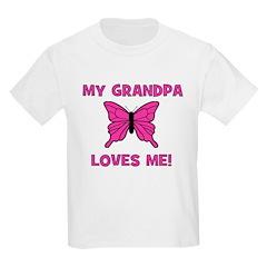 Butterfly - My Grandpa Loves Kids T-Shirt