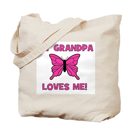 Butterfly - My Grandpa Loves Tote Bag