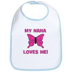 Butterfly - My Nana Loves Me! Bib