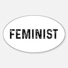 Feminist Sticker (Oval)
