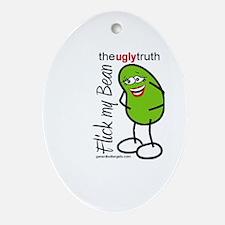Flick My Bean Oval Ornament
