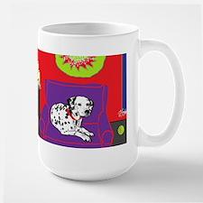 Spotted Dog Holiday Large Mug