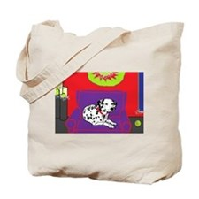 Spotted Dog Holiday Tote Bag
