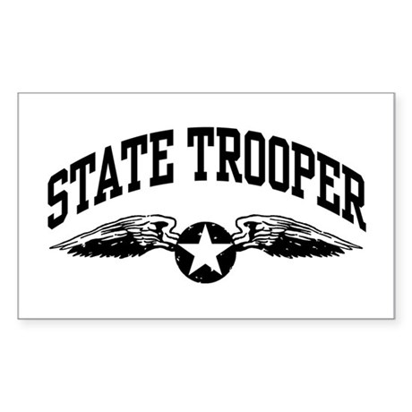 State Trooper Sticker (Rectangle)