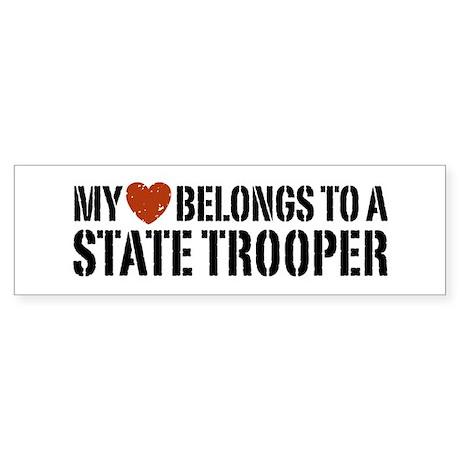 State Trooper Bumper Sticker