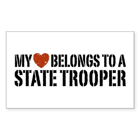 State Trooper Rectangle Sticker