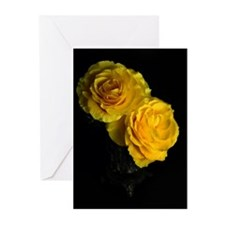 Yellow Rose Greeting Cards (Pk of 10)