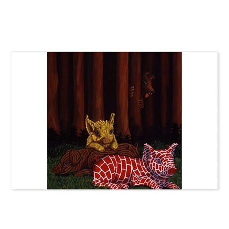 3 Little Pigs Postcards (Package of 8)