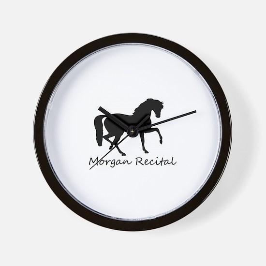 Morgan Recital -- Morgan horse - equest Wall Clock