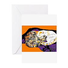 Yin and Yang Kitties Greeting Cards (Pk of 10)