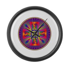 OM MANDALA Large Wall Clock