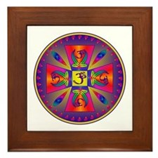 OM MANDALA Framed Tile