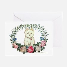Victorian Westie Greeting Cards (Pk of 10)