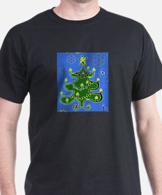 Christmas Tree Black T-Shirt