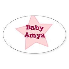 Baby Amya Oval Decal