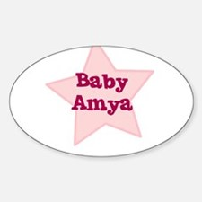 Baby Amya Oval Decal