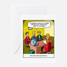 Job interview Greeting Card