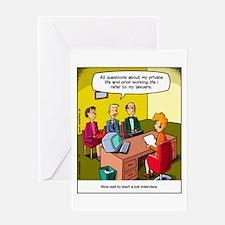 Job interview Greeting Card