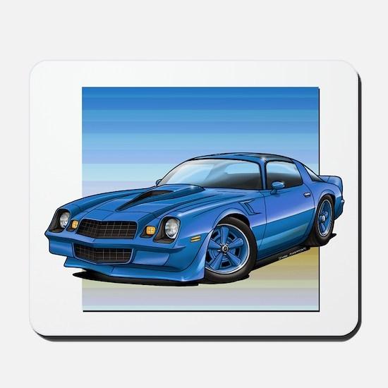 '78-81 Camaro Blue Mousepad