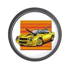 '78-81 Camaro Yellow Wall Clock