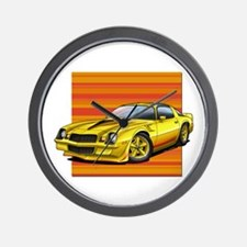 '78-81 Camaro Yellow Wall Clock