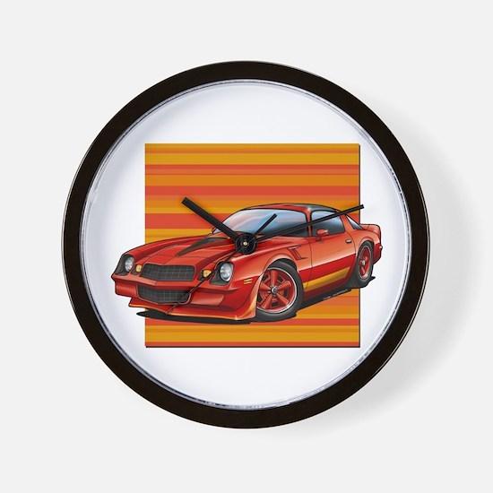 '78-81 Camaro Red Wall Clock