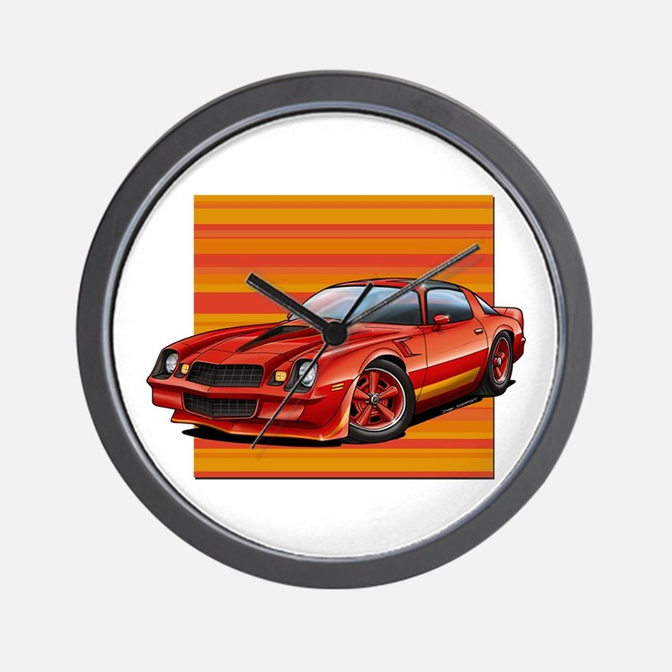 '78-81 Camaro Red Wall Clock