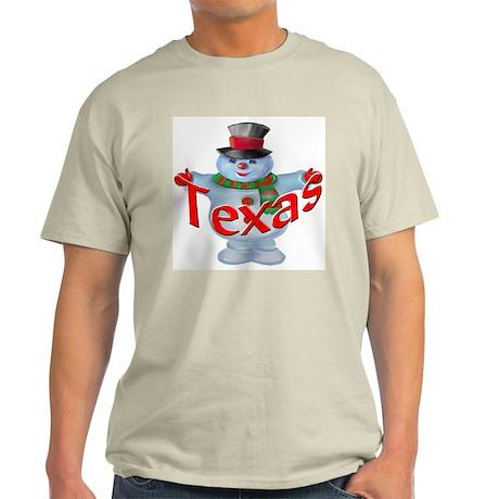 Texas Snowman Light T-Shirt