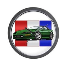 93-97 Camaro Green Wall Clock