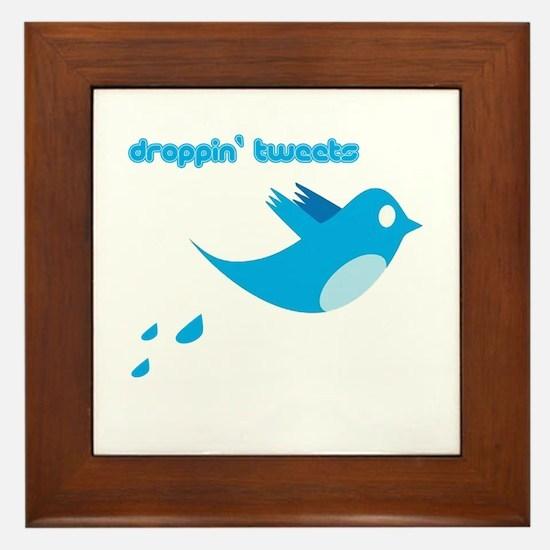 Droppin' Tweets Framed Tile