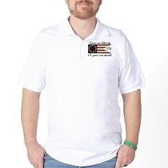 Give Me Liberty American Flag Golf Shirt