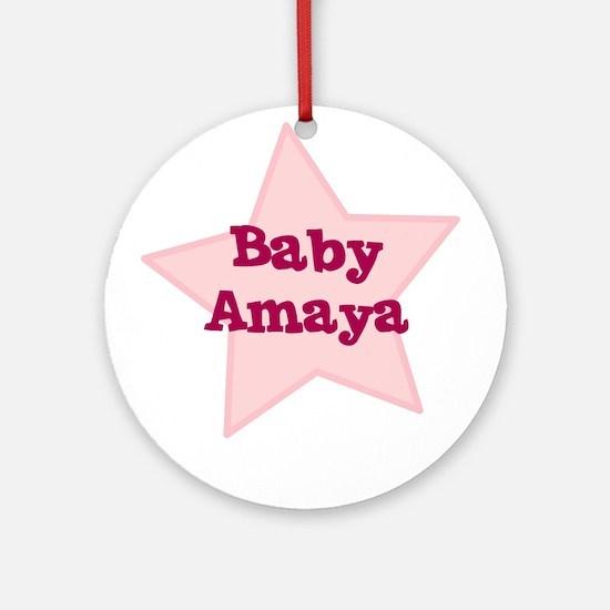 Baby Amaya Ornament (Round)