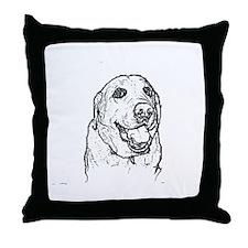 Color Me Labrador Throw Pillow