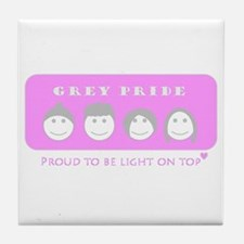 Lady Grey Pride Tile Coaster