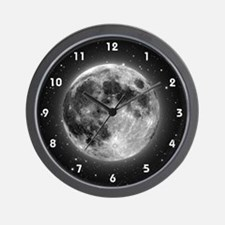 High-Res Moon Wall Clock