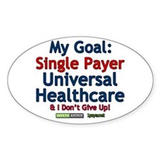 Single Payer Oval Decal