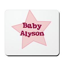 Baby Alyson Mousepad