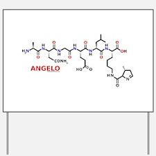 Angelo name molecule Yard Sign
