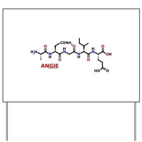Angie name molecule Yard Sign