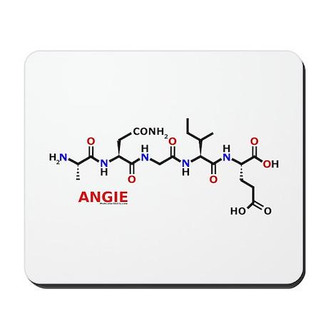 Angie name molecule Mousepad
