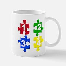 Four Colour Jigsaw Piece Mug